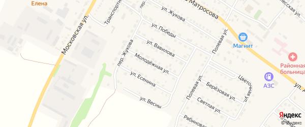 Молодежная улица на карте Городища с номерами домов