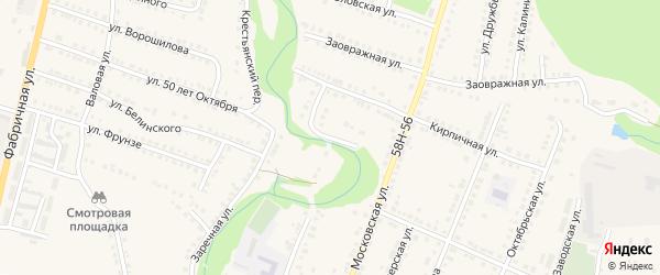 Кирпичный переулок на карте Городища с номерами домов