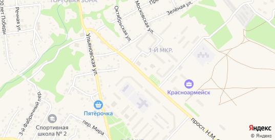 Улица Степана Разина в Красноармейске с номерами домов на карте. Спутник и схема онлайн