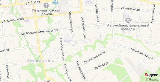 Коммунистическая улица в Красноармейске с номерами домов на карте. Спутник и схема онлайн