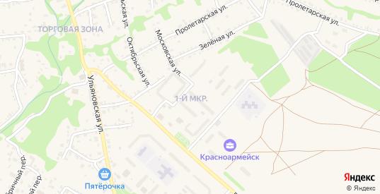 1-й микрорайон в Красноармейске с номерами домов на карте. Спутник и схема онлайн