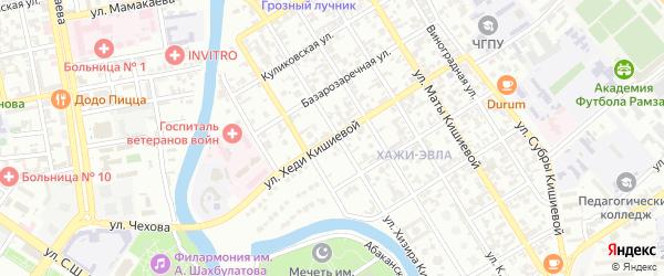 Улица Хеди Кишиевой на карте Грозного с номерами домов