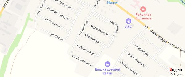 Светлая улица на карте Городища с номерами домов