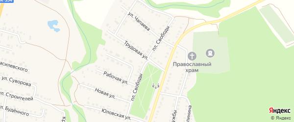 Улица Площадь Свободы на карте Городища с номерами домов