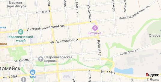Улица 8 Марта в Красноармейске с номерами домов на карте. Спутник и схема онлайн