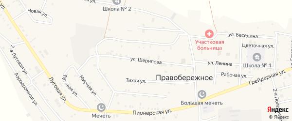 Улица А.Шерипова на карте Правобережного села Чечни с номерами домов