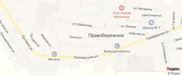 Тихая улица на карте Правобережного села с номерами домов