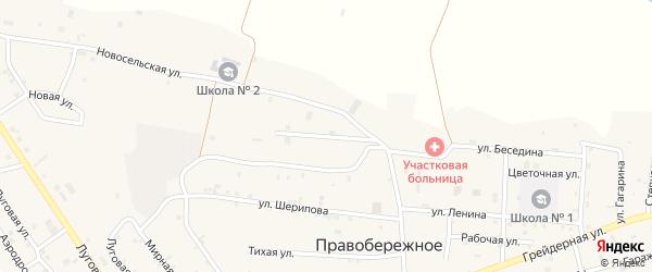 2-я Новосельская улица на карте Правобережного села с номерами домов