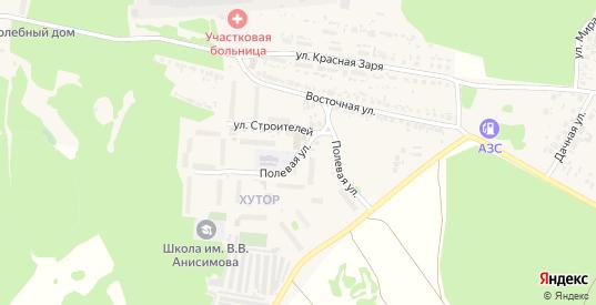 Полевая улица в Сурске с номерами домов на карте. Спутник и схема онлайн