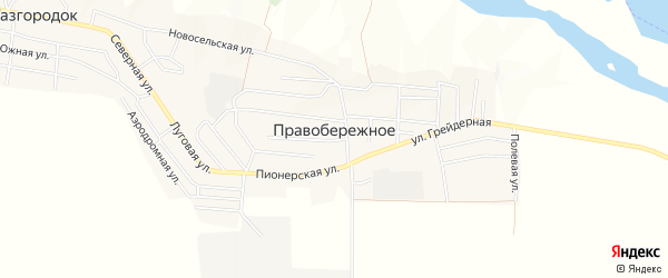 Карта Правобережного села в Чечне с улицами и номерами домов