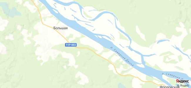 Устиновская на карте