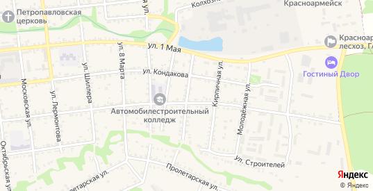 Цветочная улица в Красноармейске с номерами домов на карте. Спутник и схема онлайн
