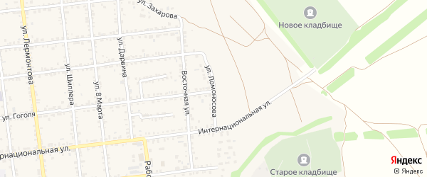 Улица Ломоносова на карте Красноармейска с номерами домов