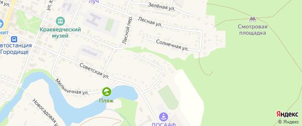 Первомайская улица на карте Городища с номерами домов