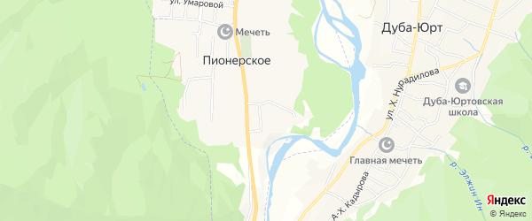 Карта Пионерского села в Чечне с улицами и номерами домов