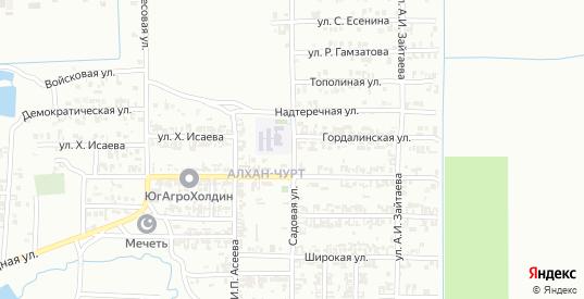 Садовая улица в Грозном с номерами домов на карте. Спутник и схема онлайн