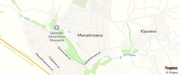 Карта села Михайловки в Саратовской области с улицами и номерами домов