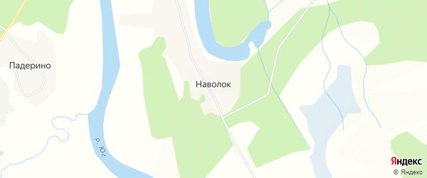 Карта деревни Наволок (Кичменгское с/п) в Вологодской области с улицами и номерами домов