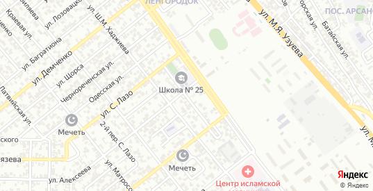 Насыпной 1-й переулок в Грозном с номерами домов на карте. Спутник и схема онлайн