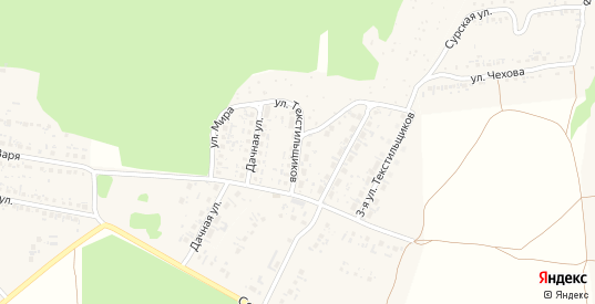 Улица Текстильщиков в Сурске с номерами домов на карте. Спутник и схема онлайн