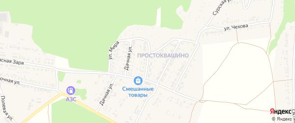 Улица Текстильщиков на карте Сурска с номерами домов