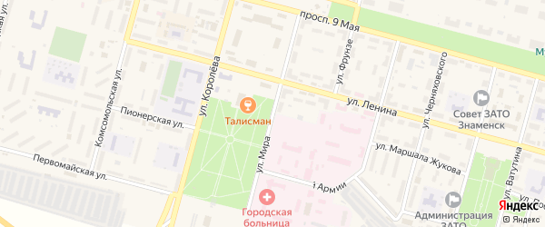 Улица Мира на карте Знаменска с номерами домов