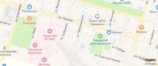 Улица Маршала Жукова на карте Знаменска с номерами домов