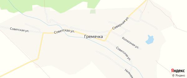 Карта села Гремячки в Саратовской области с улицами и номерами домов