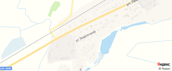Улица Энергетиков на карте Урени с номерами домов