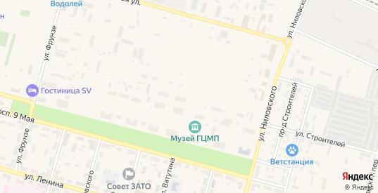 Территория Промзона 1 в Знаменске с номерами домов на карте. Спутник и схема онлайн
