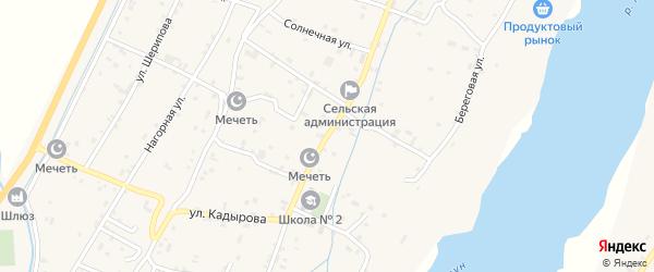 Переулок Х.Нурадилова на карте поселка Чири-Юрт Чечни с номерами домов