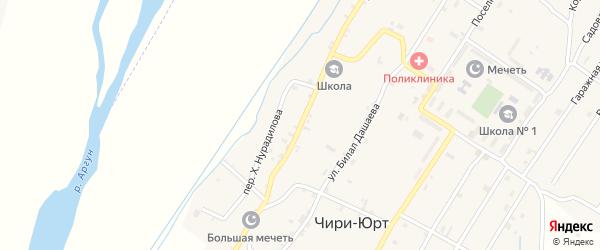Улица А.Х.Кадырова на карте поселка Чири-Юрт Чечни с номерами домов