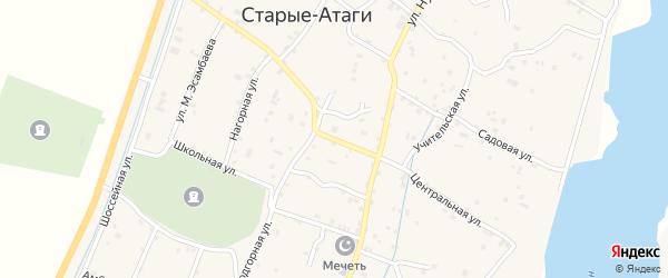Центральная улица на карте села Керла-Юрт с номерами домов