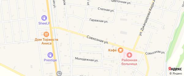 Совхозная улица на карте села Старые-Атаги Чечни с номерами домов
