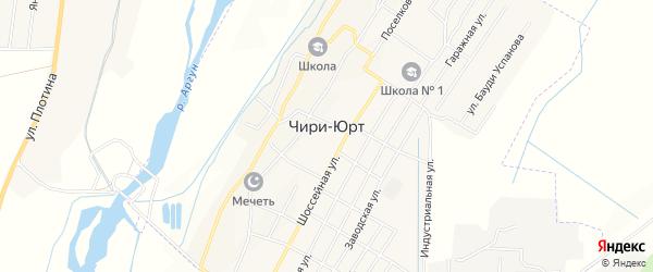 Карта поселка Чири-Юрт в Чечне с улицами и номерами домов