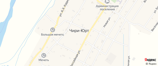 Молодежная улица на карте поселка Чири-Юрт Чечни с номерами домов