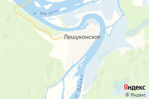 Карта пос. Лешуконское Архангельская область