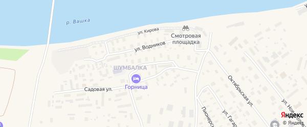 Улица Профсоюзов на карте Лешуконского села с номерами домов
