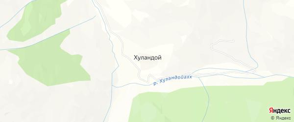 Карта села Хуландой в Чечне с улицами и номерами домов