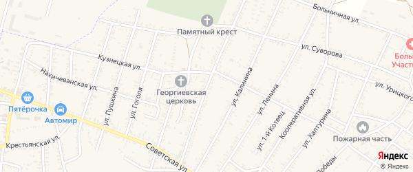 Одесская улица на карте села Капустина Яра Астраханской области с номерами домов