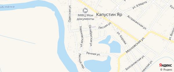 Полтавская улица на карте села Капустина Яра Астраханской области с номерами домов