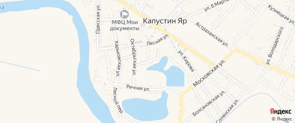 Детская улица на карте села Капустина Яра Астраханской области с номерами домов