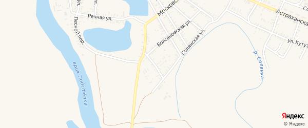 2-я Озерская улица на карте села Капустина Яра Астраханской области с номерами домов