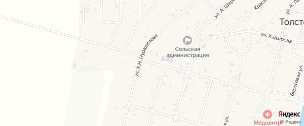 Улица Дружбы народов на карте села Толстого-Юрта с номерами домов