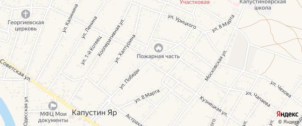 Кузнецкая улица на карте села Капустина Яра Астраханской области с номерами домов