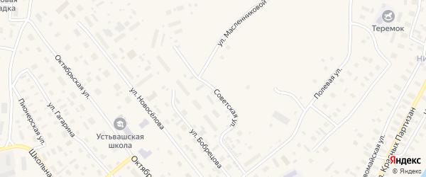 Советская улица на карте Лешуконского села с номерами домов