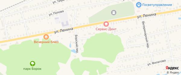 Лесная улица на карте Урени с номерами домов