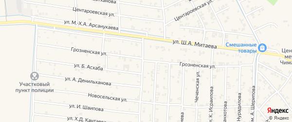Грозненская улица на карте села Керла-Юрт Чечни с номерами домов
