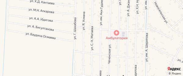 Новая улица на карте села Керла-Юрт с номерами домов