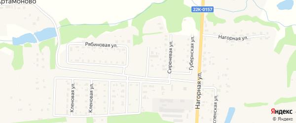 Вишневая улица на карте Урени с номерами домов